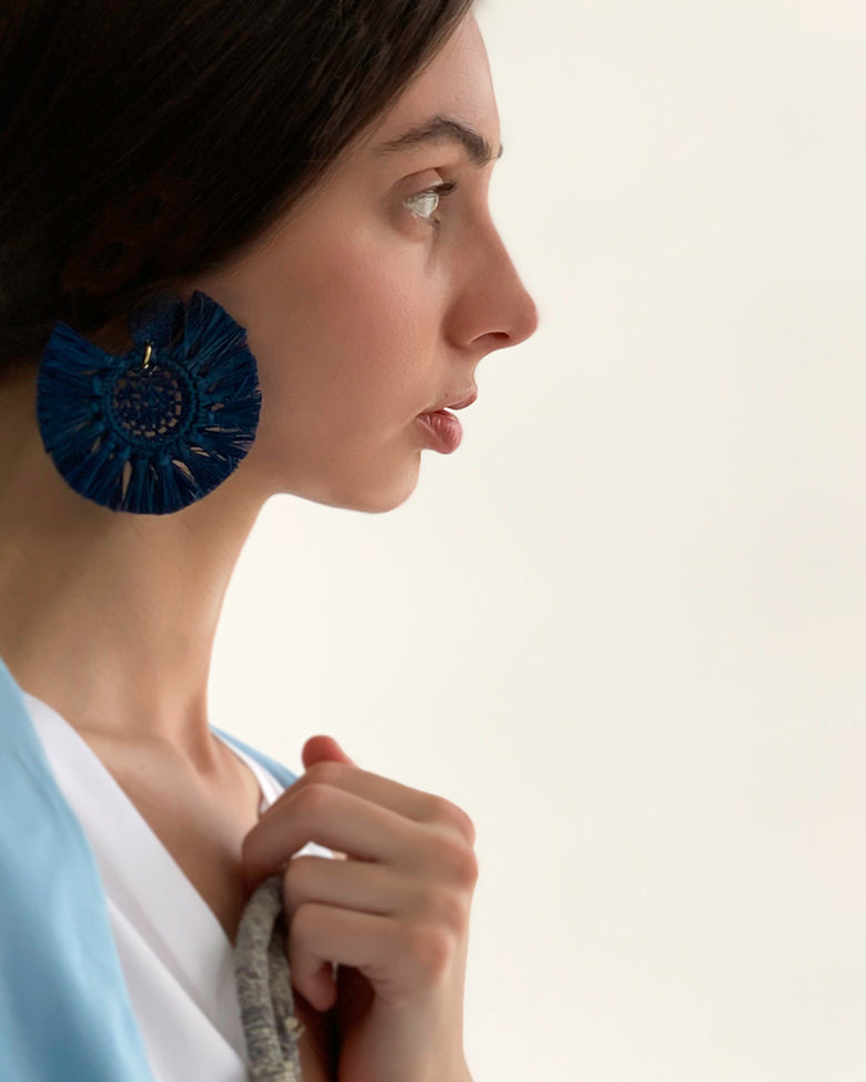 Anis Earrings - Navy - Nous Wanderlust Stories