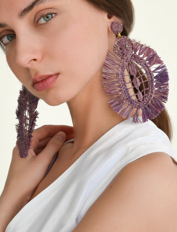 Pipa Earrings - Mallow - Nous Wanderlust Stories