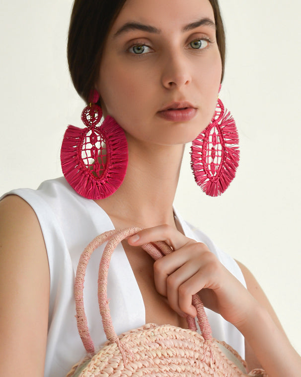 Pipa Earrings - Coral - Nous Wanderlust Stories