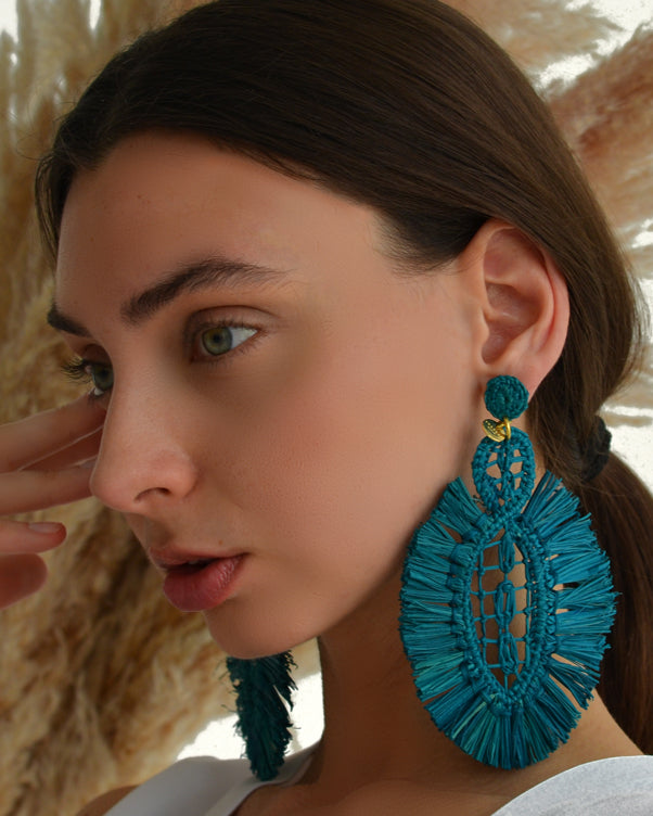 Pipa Earrings - Blue - Nous Wanderlust Stories