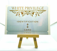"""White Privilege"" The Postcard $2.99 - Free Shipping"