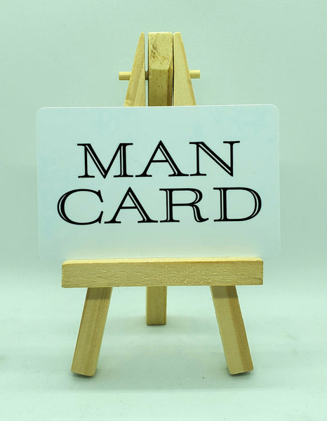 The Man Card $2.99 - Buy 2 get 1 FREE! Free Shipping #mancard #man #card