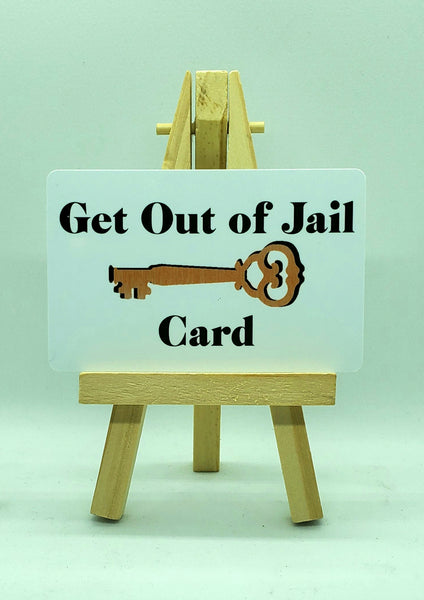 Get Out of Jail Card $2.99 - Buy 2 get 1 FREE! Free Shipping #getoutofjailcard