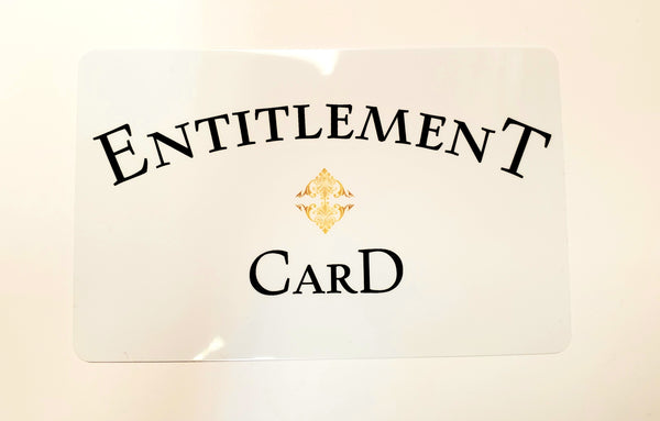 Entitlement Card $2.99 #EntitlementCard #Entitlement