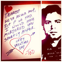 "Customized Love Letter (Postcard) from ""Ted Bundy"" $9.99"