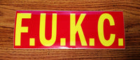 F.U.K.C. (F*** You Kansas City) Sticker $2.99