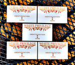 "$4.99 for 5 ""White Privilege"" Business Cards #WhitePrivilege"