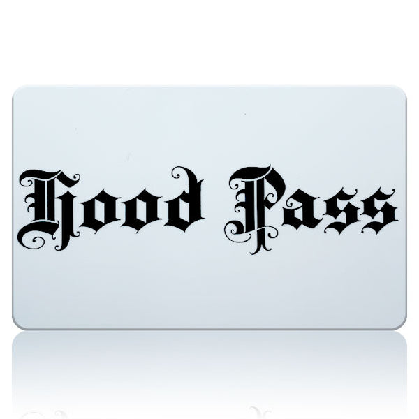 Hood Pass $2.99 - Buy 2 get 1 FREE! Free Shipping #hoodpass #hood #pass