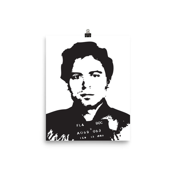 Serial Killer Ted Bundy Photo paper poster FREE SHIPPING