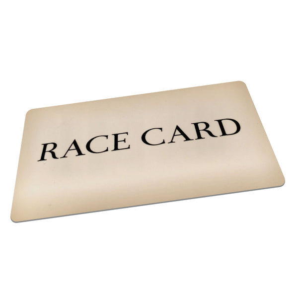 "The ""Race"" Card  $1.99 FREE SHIPPING"