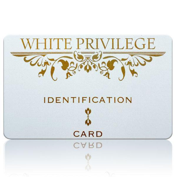 OFFICIAL WHITE PRIVILEGE I.D. CARD $4.99 FREE shipping!