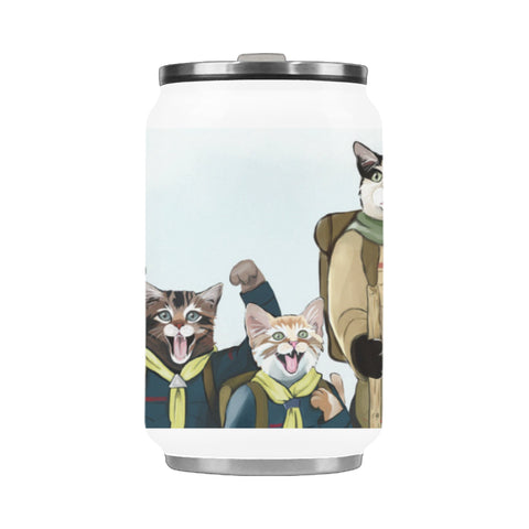 Cat Scouts Hit the Hiking Trail Stainless Steel Vacuum Mug (10.3OZ)