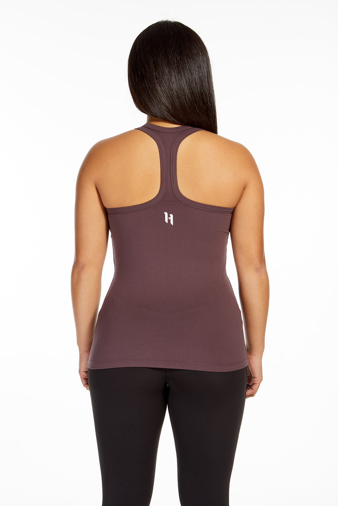 TRAINING SINGLET DEEP MAUVE