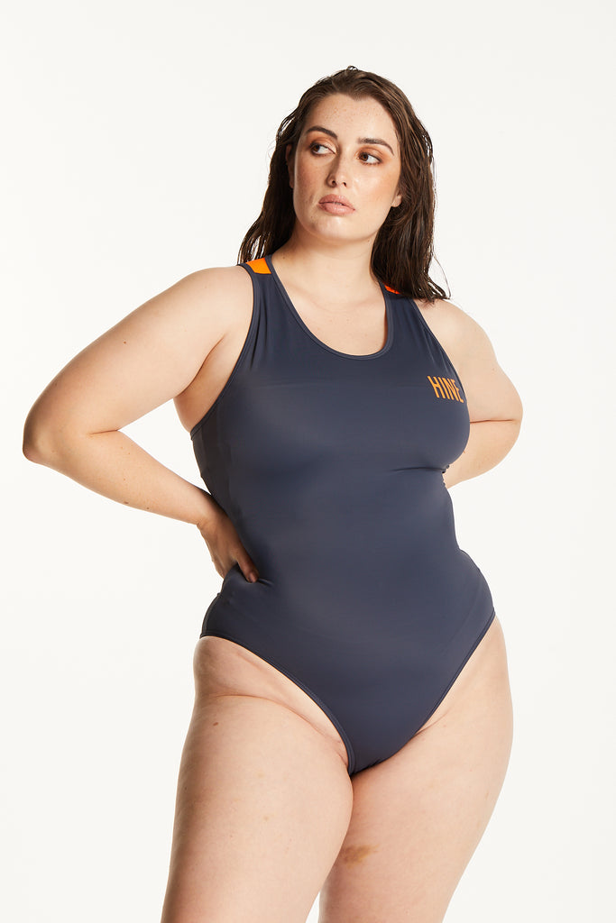 TANGERINE ONE PIECE SWIMSUIT