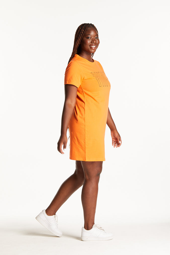 TANGERINE T-SHIRT DRESS