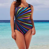 Larger Size Women Swimming Costume Padded Swimsuit