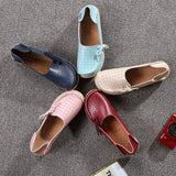 New Women Flats Soft Comfortable Lace-Up Casual Fashion Flat Loafers Shoes