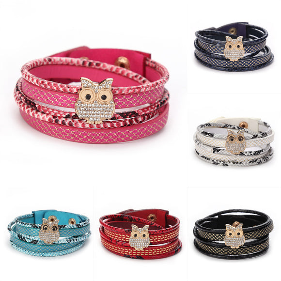 Fashion Women Handmade Wristband Leather Bracelet
