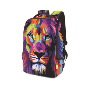 3D Lion Printing Backpack---Free Shipping