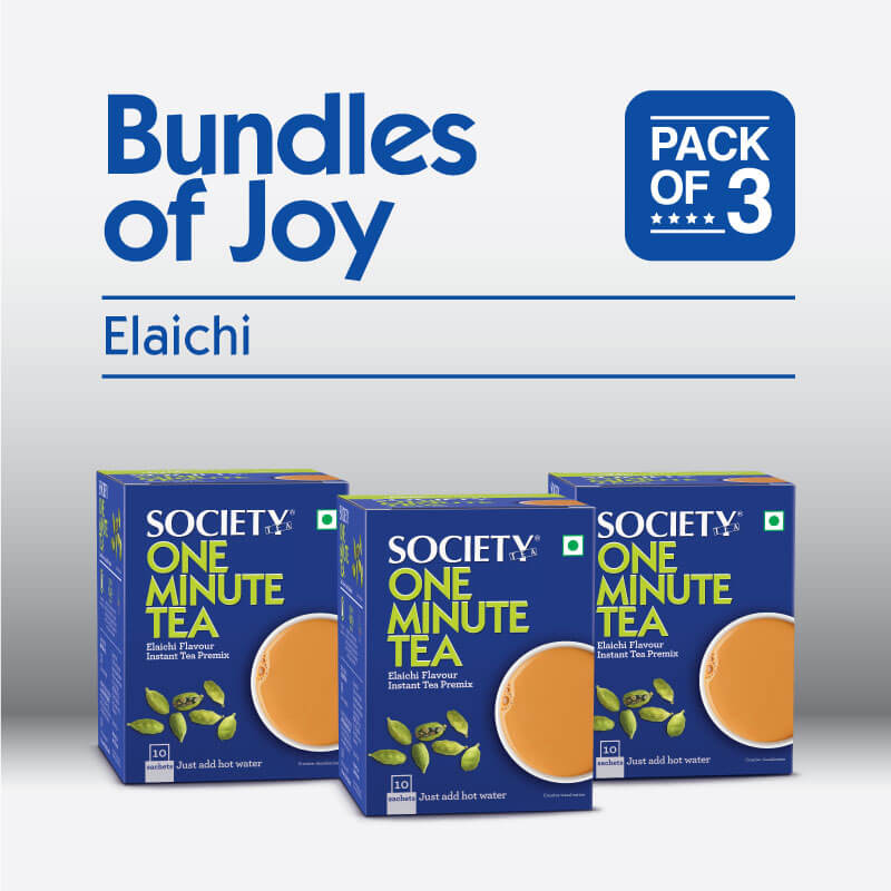 Society One Minute Elaichi Instant Tea Premix (3p)