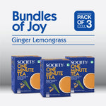 Society One Minute Ginger Lemongrass Instant Tea Premix