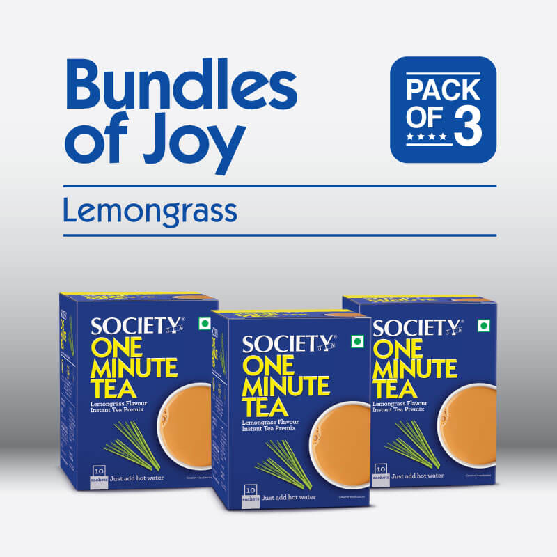 Society One Minute Lemongrass Instant Tea Premix