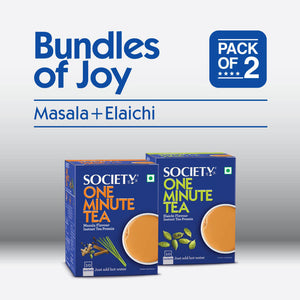Society One Minute Masala Premix + Society One Minute Elaichi Instant Tea Premix