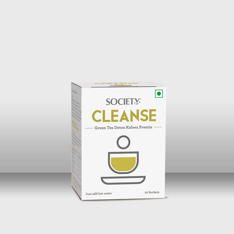 Society Cleanse Green Tea Detox Kahwa Premix ( 50 g Mono Carton)