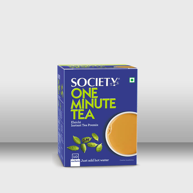 Society One Minute Tea Elaichi (14 g x 10 Sachets), Jar (500 g), (1 Kg Pouch)