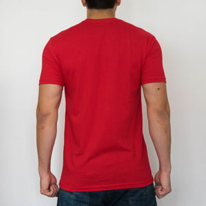 vision clothing company script tee red