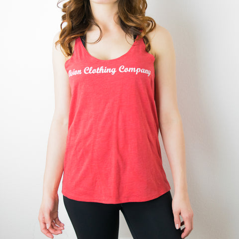 Wome's Slouchy Tank- Red Heather