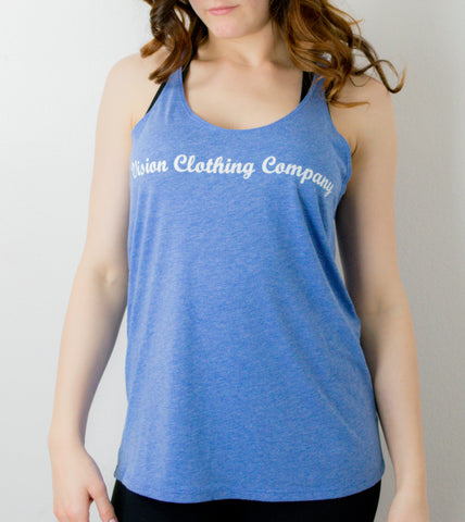 Women's Slouchy Tank- Light Blue