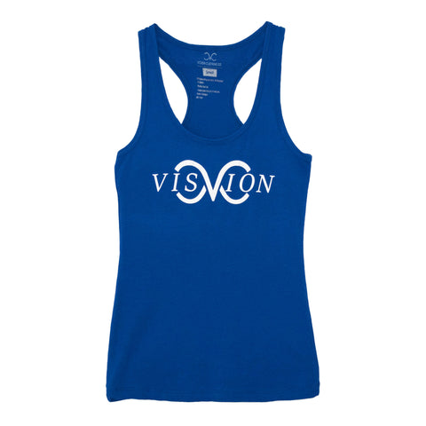 vision clothing company royal women's racerback tank top