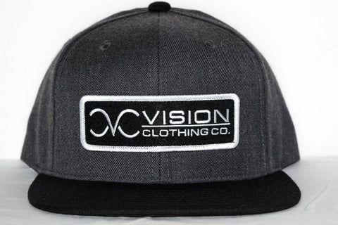 vision clothing company gray snapback hat