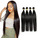 [Abyhair 10A] Indian Straight Hair 4 Bundles 100% Human Hair Weave Extensions