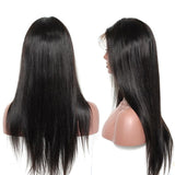 250% Density Straight 13x6 Lace Front Human Hair Wigs Pre Plucked With Baby Hair For Women