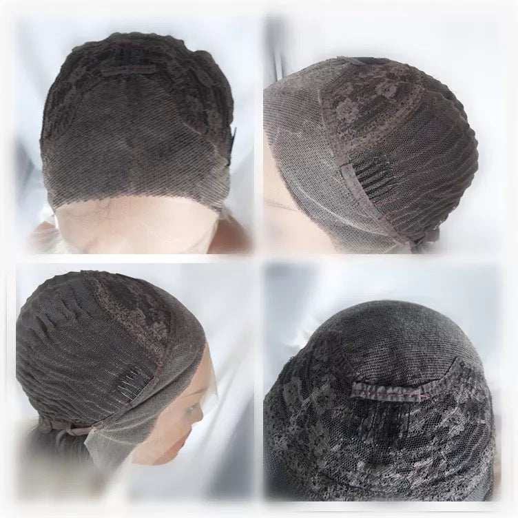 Short Synthetic Hair Wigs Ombre Bob Lace Front Wig Black Roots 1b 613 for Women 150% Density