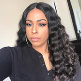 [Abyhair 8A] Brazilian 4 Bundles With 4x4 Lace Closure Deep Wave Remy Human Hair