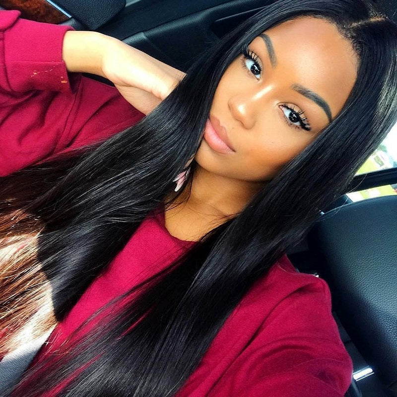 9a Peruvian 360 Lace Frontal Closure With 2 Bundles Straight Hair
