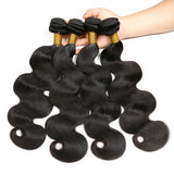 [Abyhair 10A] Brazilian Human Hair Body Wave 4 Bundles With 4x4 Lace Closure Free Part