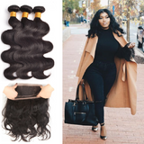 [Abyhair 9A] 360 lace Frontal Closure With 3 Bundles Peruvian Body Wave Hair Weave