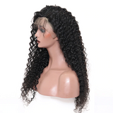 Curly 360 Lace Frontal Wig Lace Front Human Hair Wigs Pre Plucked With Baby Hair For Women