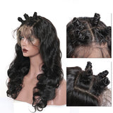 Body Wave 360 Lace Frontal Human Hair Wig 180% Density Pre Plucked With Baby Hair