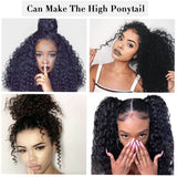 250% Density Deep Wave 360 Lace Frontal Human Hair Wig Pre Plucked With Baby Hair