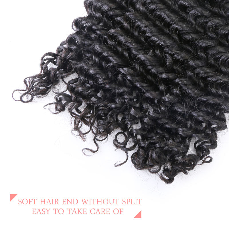 9a Peruvian Deep Wave Hair Weave Bundles 4 Bundles Virgin Human Hair