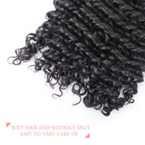 [Abyhair 10A] Peruvian Human Hair Deep Wave 4 Bundles With 4x4 Lace Closure Free Part