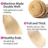 10A Virgin 613 Blonde Brazilian Straight Hair 1 Bundle Human Hair Weave 105g