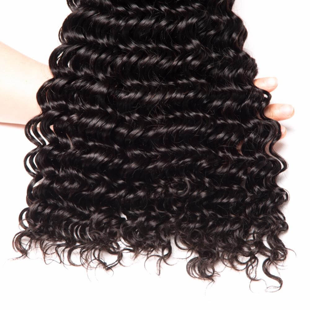 [Abyhair 8A] Brazilian Deep Wave Hair 1 Bundle Human Remy Hair Weave 105g