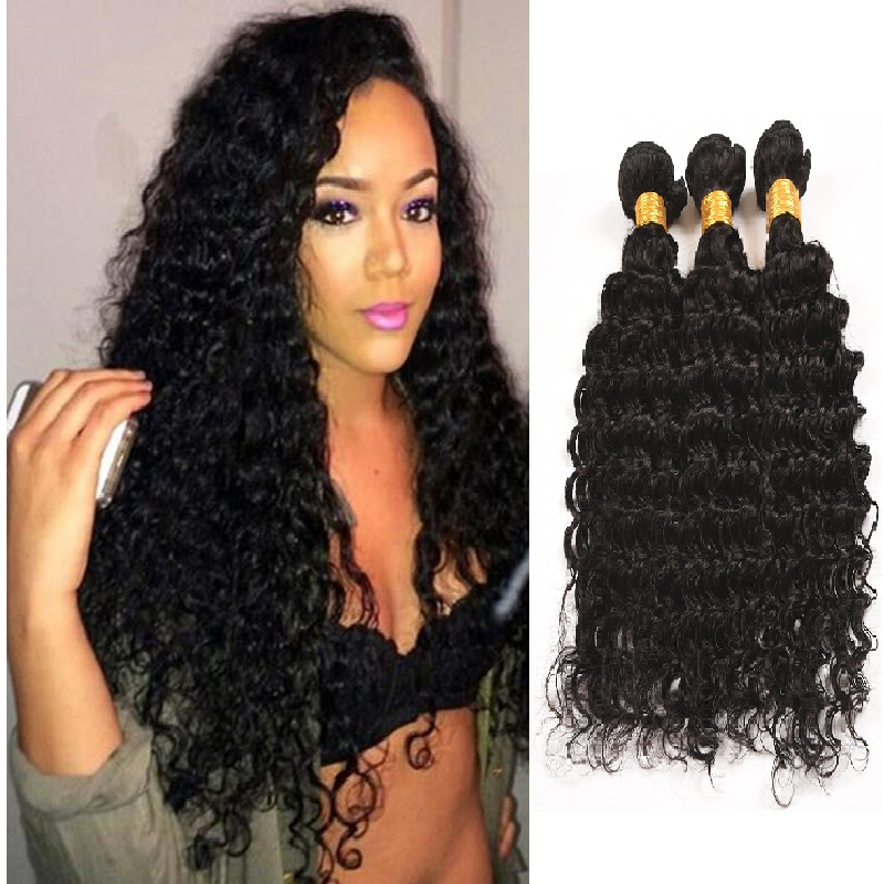[Abyhair 10A] Malaysian Deep Wave Hair 3 Bundles 100% Human Hair Weave Extensions