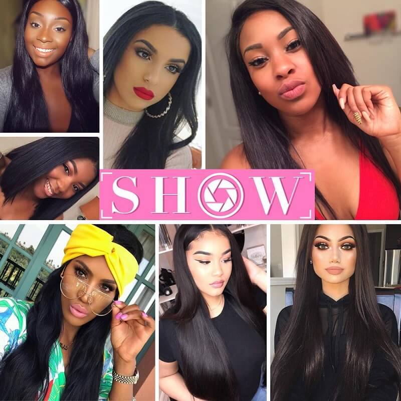 [Abyhair 8A] Brazilian Straight Hair 1 Bundle Human Remy Hair Weave 105g